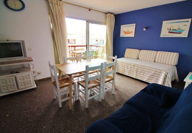 Apartamento en Palamós - W213-AP. 2/4 PERS. A 100 M DE LA PLAYA DE LA FOSCA- VISTA MAR -TERRAZA Y PARKING